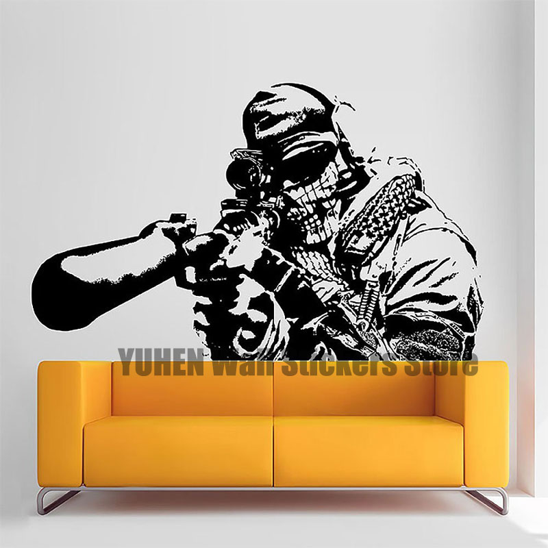 Call of Duty Wall Stickers Sniper Figures Vinyl Wall Decoration Boy Bedroom Living Room Background Wall Art Wallpapers