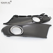 2pcs For VW Polo Vento Sedan Saloon 2011 2012 2013 2014 2015 2016 Car-Styling Fog Light Fog Lamp Grille Cover With Hole