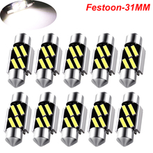 цена на Festoon 31mm LED Bulbs C5W C10W CANBUS 7020 SMD NO ERROR White Light Lamps For Car Auto Dome Reading License Plate Lights DC 12V