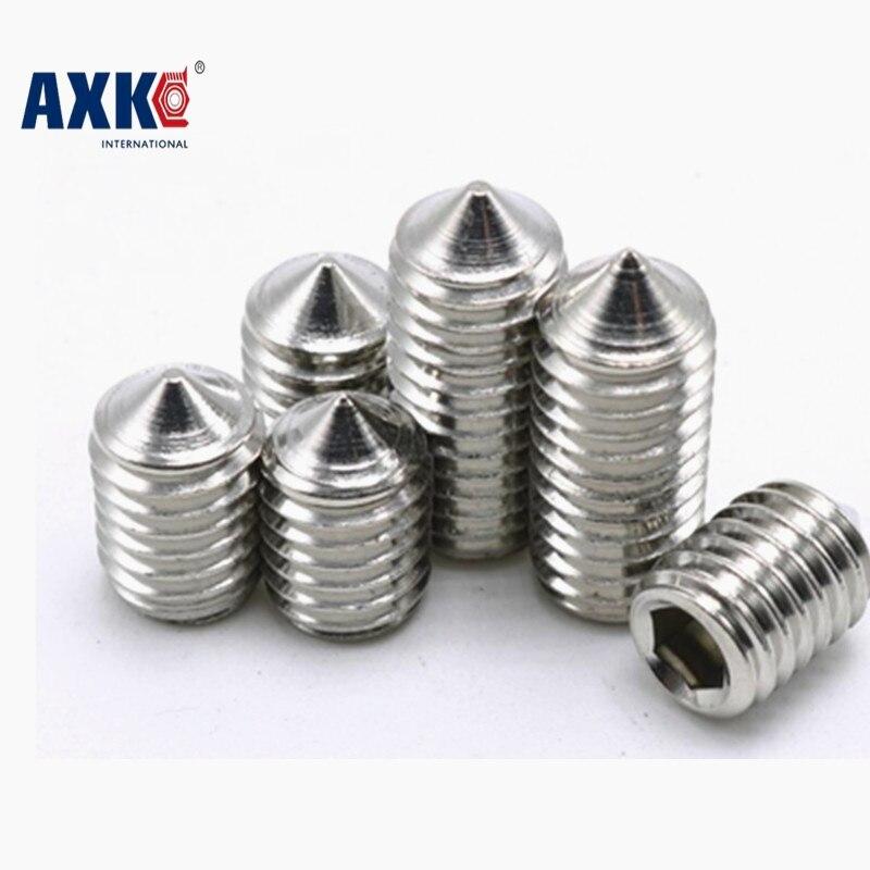 10-100pcs/lot M6*5/6/8/10/20/25/30/35/40/45 M5X4-40 stainless steel 304 cone point hex socket set screws grub screws fasteners 20pcs din7991 m6 10 12 16 20 25 30 35 40 45 50 m6 torx tamper proof security screw m5 a2 stainless steel anti theft screws