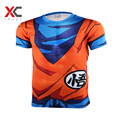2016 Fashion Brand Anime Dragon Ball Z Vegeta T Shirt Men Super Saiyan Goku Fitness Cosplay 3D Printed T-Shirts tshirt