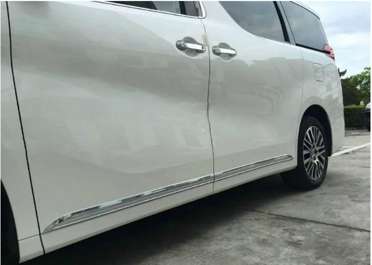car Accessories styling For Toyota Alphard 2016 ABS chromium car body door side skirt accent moulding sticker trim 4pcs/set 4pcs abs plastic chromed  car door body