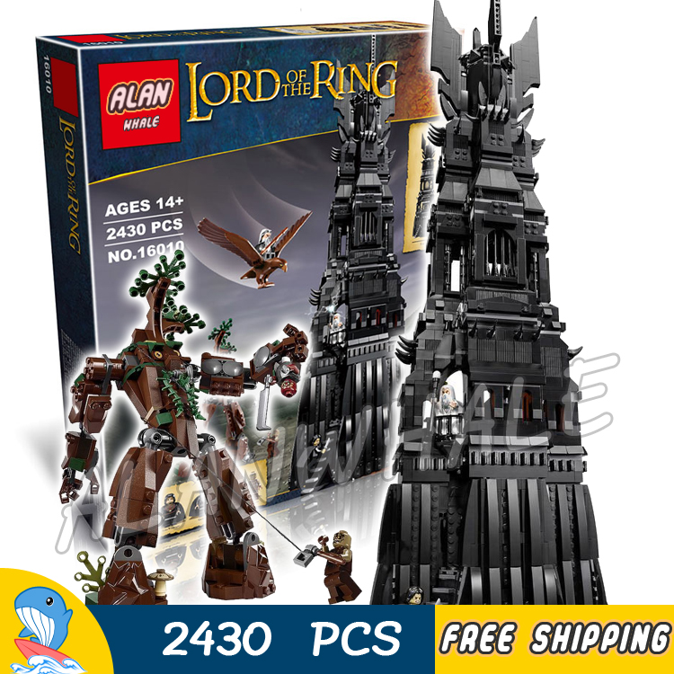 2430pcs Lord of the Rings Movie Tower of Orthanc Ent stands Battle 16010 Model Building Blocks Toys Bricks Compatible with Lego
