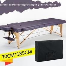 185 см* 70 см кровать+ чехол+ сумка+ u-образная подушка+ подлокотник, спа тату Красота Мебель портативный складной массажный стол для массажного салона