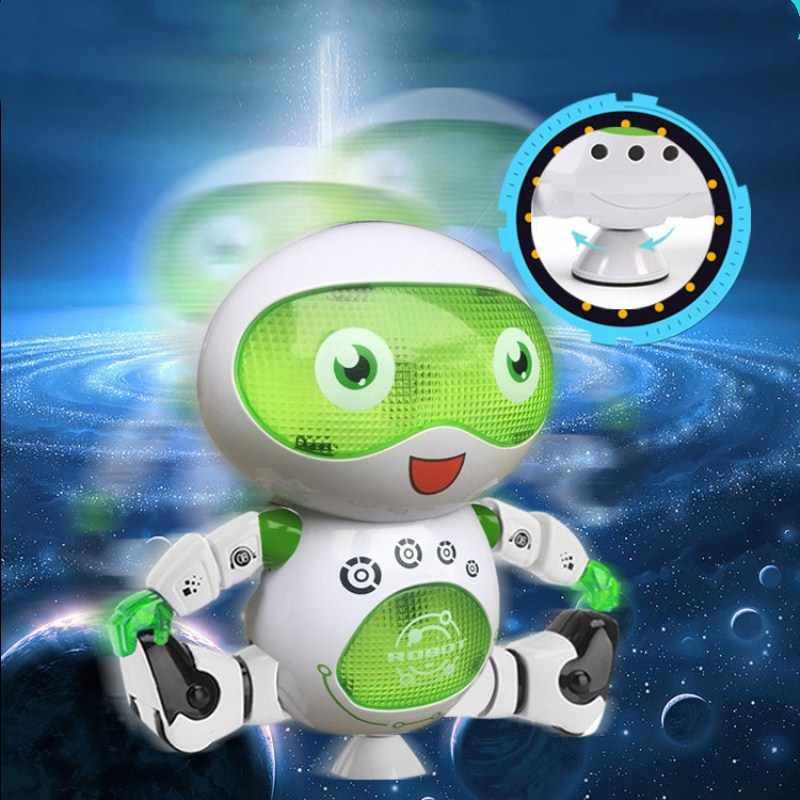 Dançarina Humanóide Robô de Brinquedo Com Luz Crianças Brinquedos do animal de Estimação Eletrônicos Jouets Electronique para o Menino Criança bola dragão