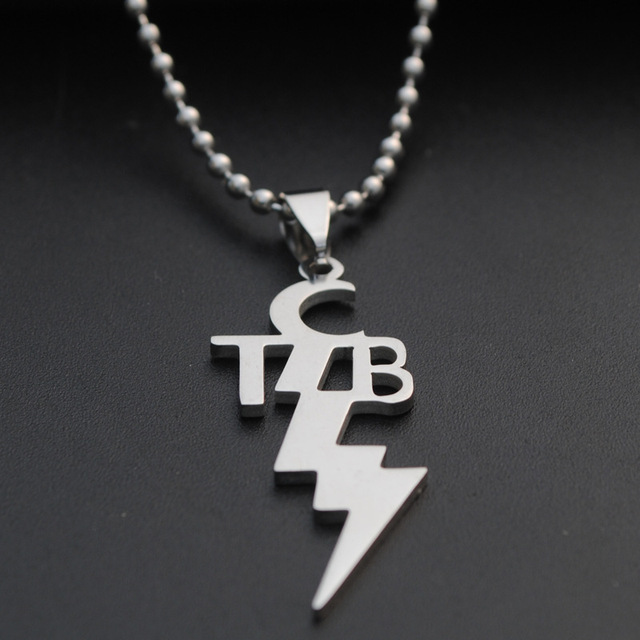 1pcs new women men fashion stainless steel pendant tcb elvis presley 1pcs new women men fashion stainless steel pendant tcb elvis presley necklace with 50cm steel link mozeypictures Image collections