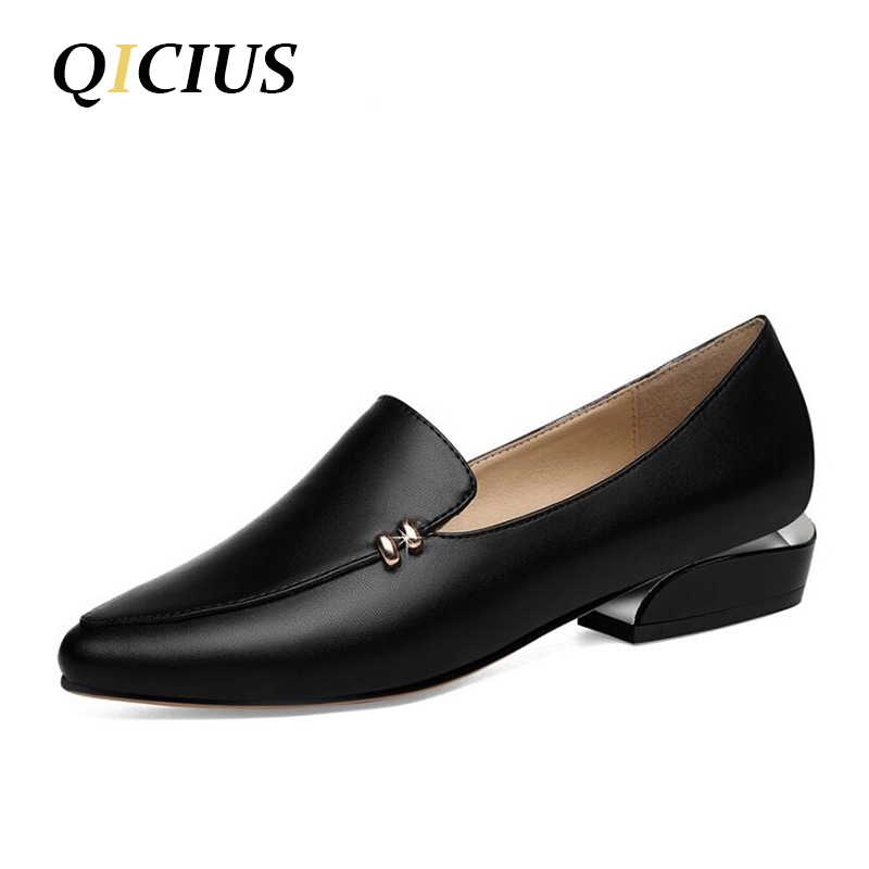 цены 2018 New Spring Women Flats Leather Pointed Toe Flats Woman Casual Shoes Oxfords With Sewing Flats Shoes Female Q0079