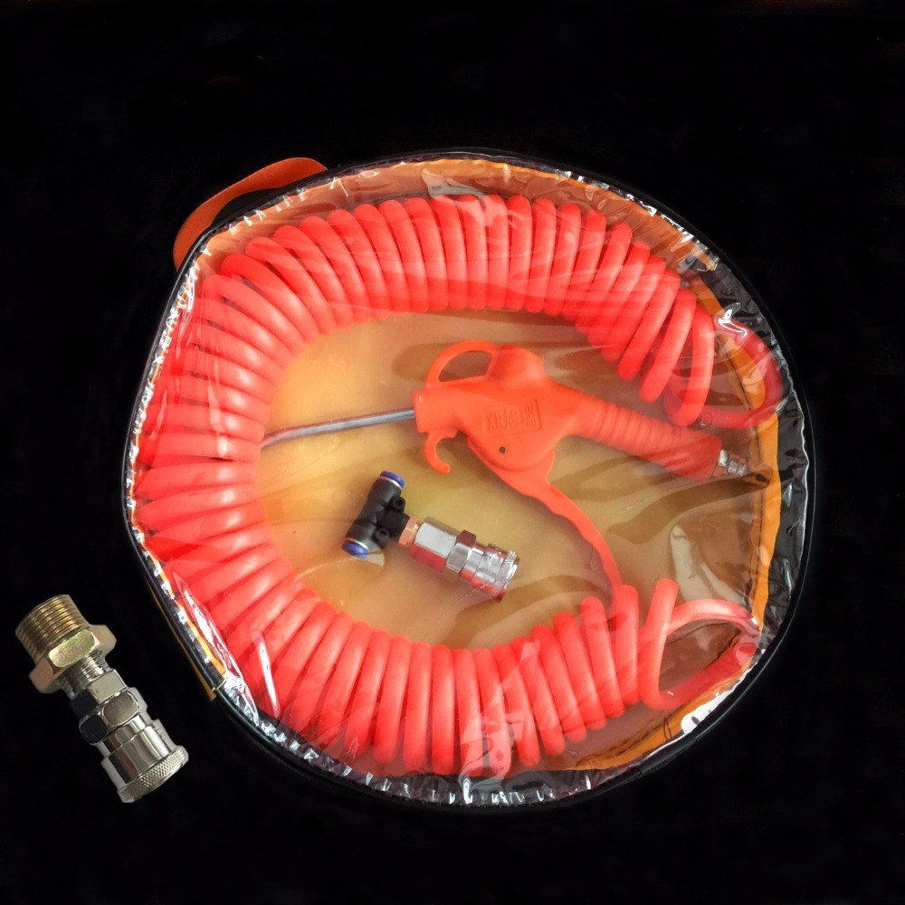 (9M-Length) - air blowing gun blowing gun set for vehicle air Compressor Pneumatic Quick Coupler Connector Socket Fitting 3 8 bsp female air compressor pneumatic quick coupler connector socket fittings set