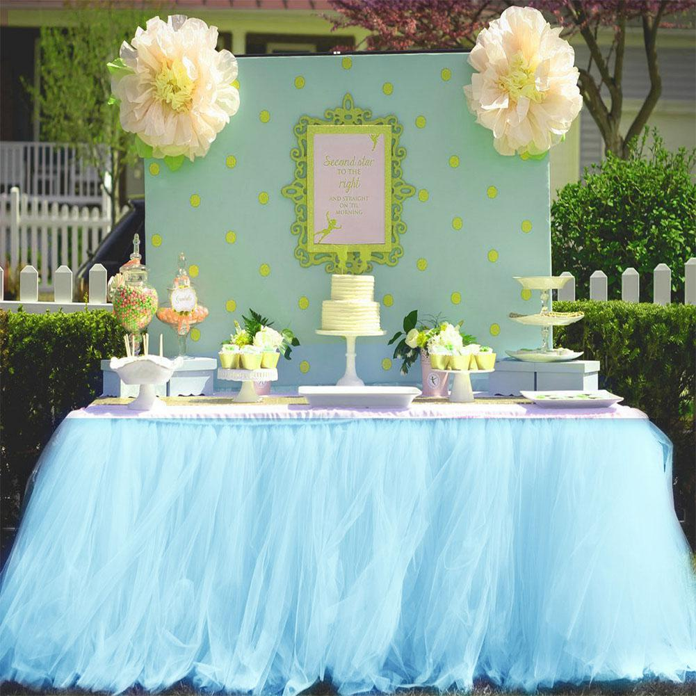 Adeeing 80 * 91.5CM Table Skirt Cover for Wedding Birthday Party Home Decoration