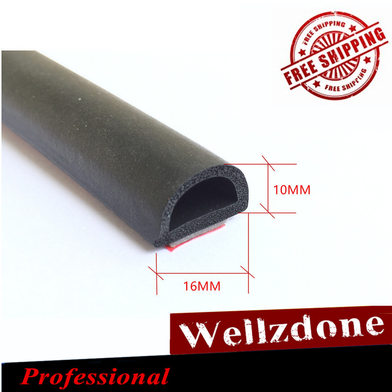 hohl Schwarz D-Form T/ürdichtung