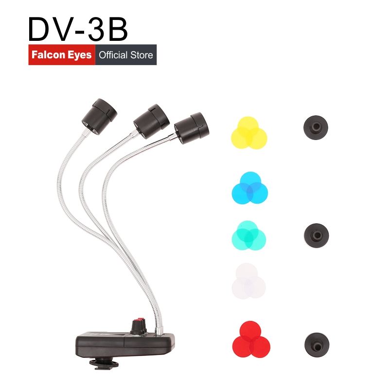 FalconEyes Triple 3 LED lumière de fond magique pour la prise de vue Macro DV-3B LED de couleur pour la photographie de bijoux