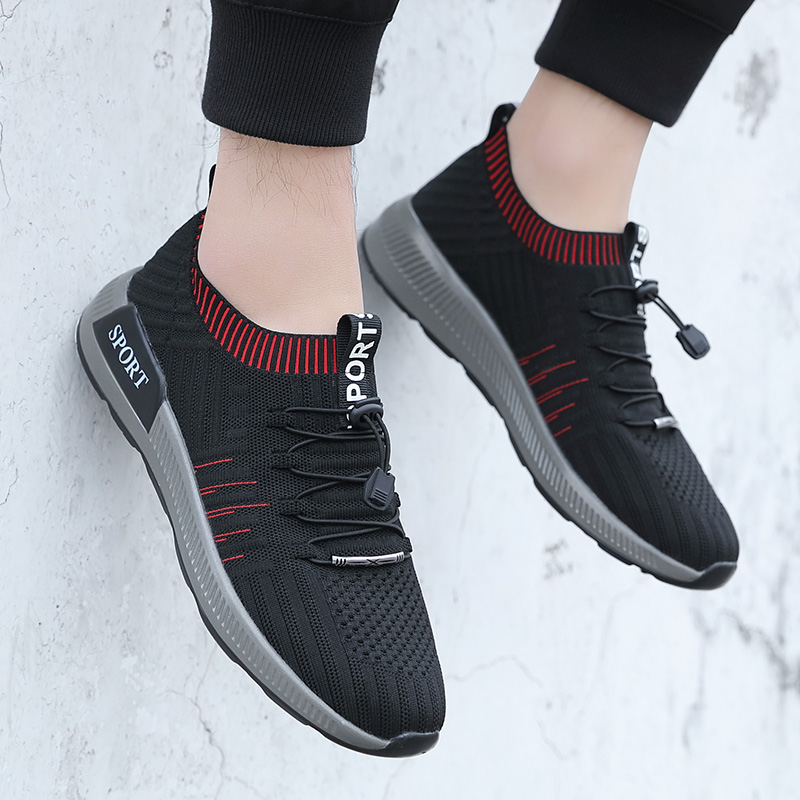 Quality Brand Men Socks Sneakers Beathable Mesh Male Running Shoes New Lace Up Loafers Boys Black Light Trainers Shoes Deportiva