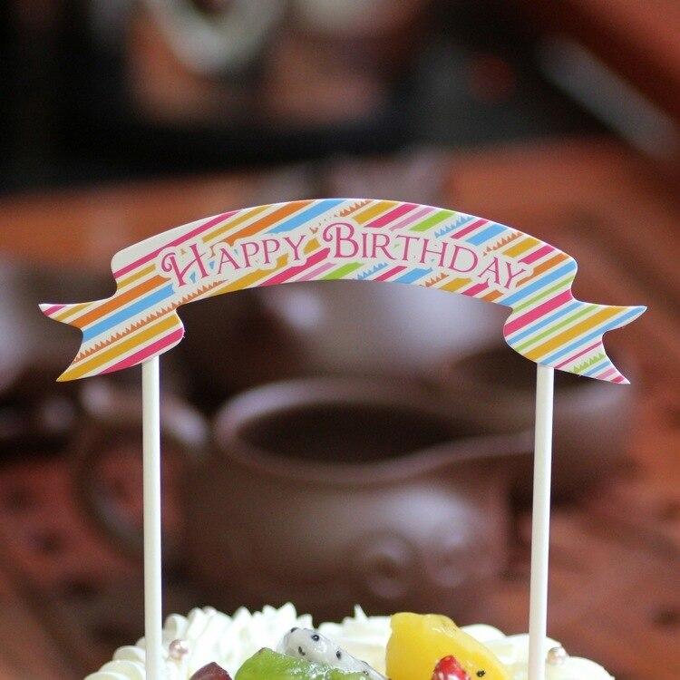 Astonishing Hot Sale 1 Pcs Party Creative Birthday Cake Small Flags Korean Personalised Birthday Cards Epsylily Jamesorg