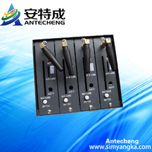 Mini 4 ports wavecom q2406 gsm gprs modem with tcp ip and at command set