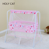 Baby Bed Iron Cradle Swing Hammock Basket No Painting Table