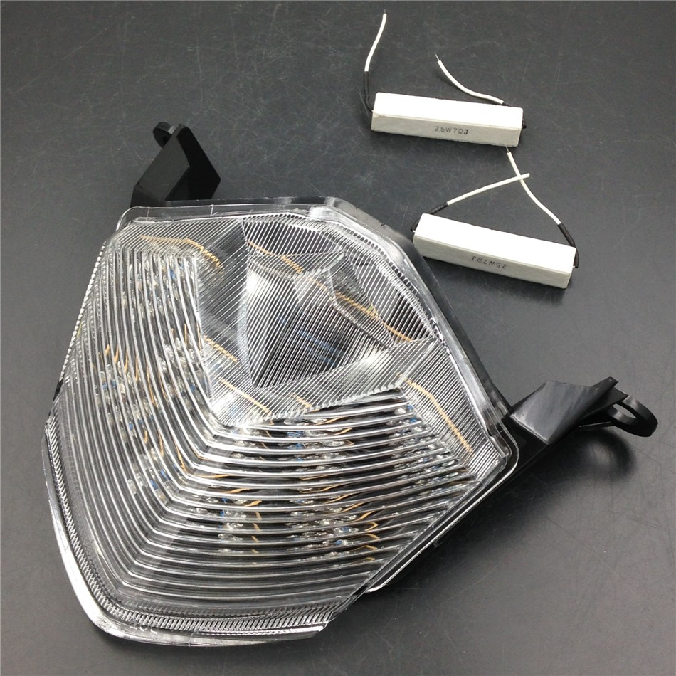 Aftermarket free shipping motorcycle parts LED Tail Brake Light for Kawasaki Z750 Z1000 ZX-10R ZX1000 ZX-6R ZX600 CLEAR aftermarket free shipping motorcycle parts led tail brake light turn signals for honda 2000 2001 2002 2006 rc51 rvt1000r smoke