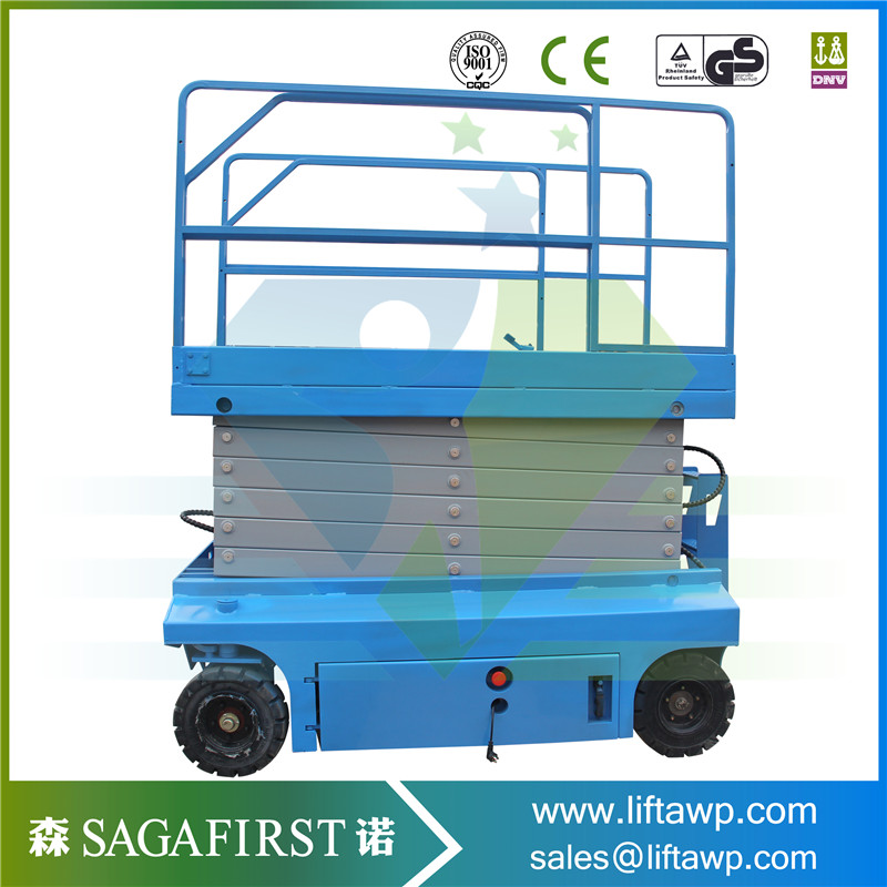 6m Automatic Driveable Scissor Man Lift Hydraulic Lift Platform Lifter