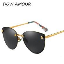 DOW AMOUR 2017 Polarized Fashion Cat Eye Sunglasses Men Women Eyewear luxury UV400 Alloy Lady oculos de sol original package