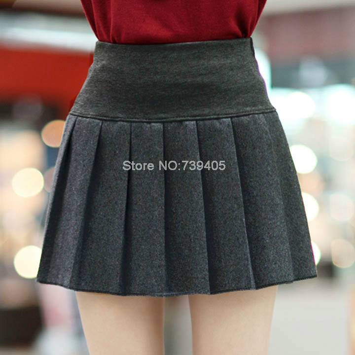 Short Black Pleated School Skirts - Skirts