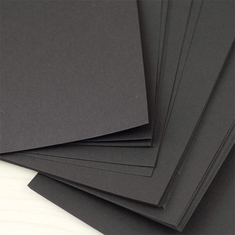 Harphia Notebook A6 A5 Black Refill 40 Sheets Inner Paper 120g Quality Card Pages Hard Paper Blank Black