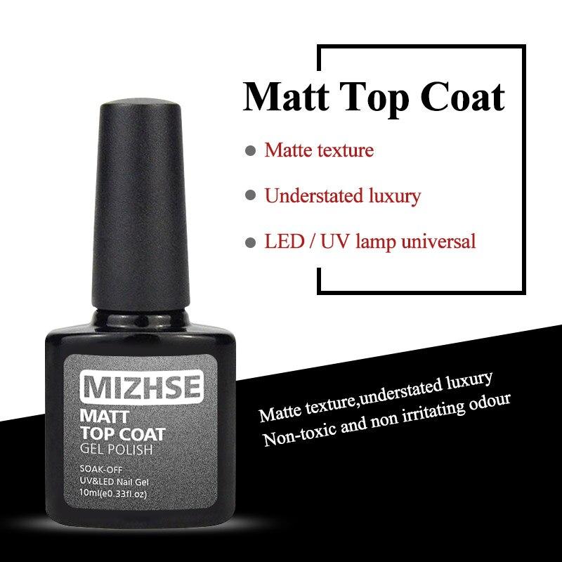 MIZHSE 10 мл Матовый верхний матовый лак для ногтей матовый Гель-лак Топ Гель-лак мат для ногтей Vernis Матовый верхний слой УФ-гель грунтовка для ногтей верхний гель