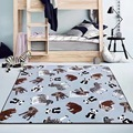 Lovely Thickness 1.5cm Animals Zoo Parrot Baby Play Mat Crawling Rug Carpet Blanket Toys Nordic Kids Room Decoration Child Game