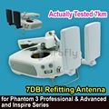 Diy range extender 7dbi de alta ganancia de la antena de montaje para dji inspire 1/phantom 3 profesional y avanzada