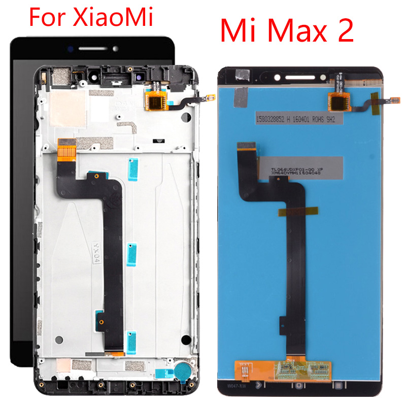 6.44 Inch For <font><b>XiaoMi</b></font> <font><b>Mi</b></font> <font><b>Max</b></font> 2 LCD <font><b>Display</b></font> Original With Frame <font><b>Mi</b></font> <font><b>Max</b></font> 2 LCD Touch Screen Digitizer Assembly Replacement image