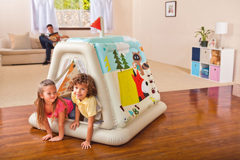 Cartoon  baby rocking crib  jumping seat Tent Inflatable toys swimming poor House Bouncers,Jumpers  Swings 1-6 year gift