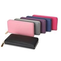 Bencool New Sale Fashion Women Long Zipper Wallets Cross Pattern Design Noble Genuine Leather Material Multicolor