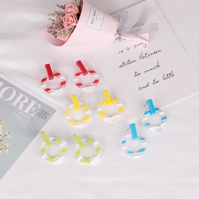 GuanLong Vintage Long Dangling Acrylic Earrings for Women Big Geometric Resin Drop Earring for Girls Fashion Jewelry Brincos  (4)