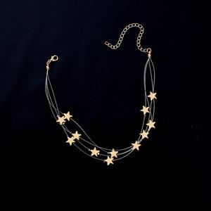 Sweet Tassel Stars Pendant Choker Neckla