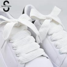 Senza Fretta 1 пара шнурков для обуви двухслойные широкие шнурки для обуви шнурки для кроссовок спортивная обувь шнурки 120*1,5 см