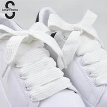 Senza Fretta 1pair Lacci Delle Scarpe Lacci Delle Scarpe Doppio Strato Largo Grasso Lacci delle scarpe Lacci Delle Scarpe Per Scarpe Sportive Lacci della Scarpa Da Tennis 120*1.5 centimetri
