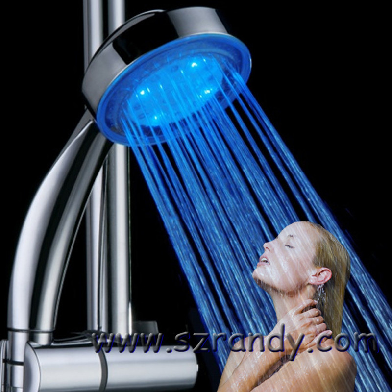 Sensible Led Shower Head Color Changing Shower Head No Battery Bathroom Accessories Bathroom Fixtures