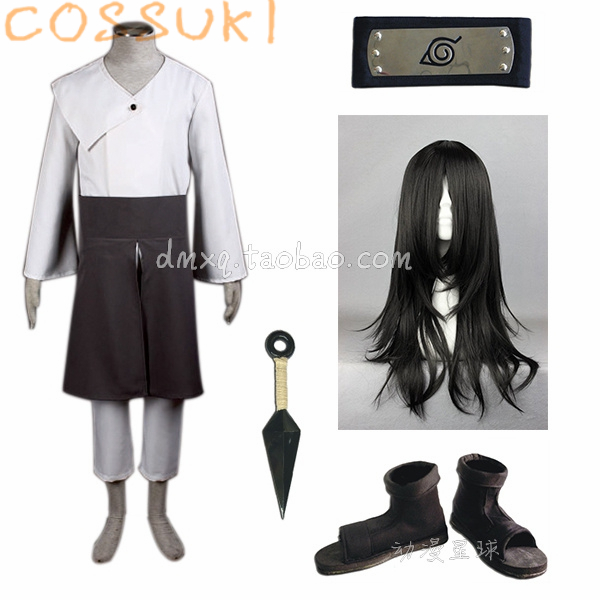 Free Shipping Newest Stock Naruto Hyuga Neji Second Generation Full Set Cosplay Costume Suits Perfect Custom
