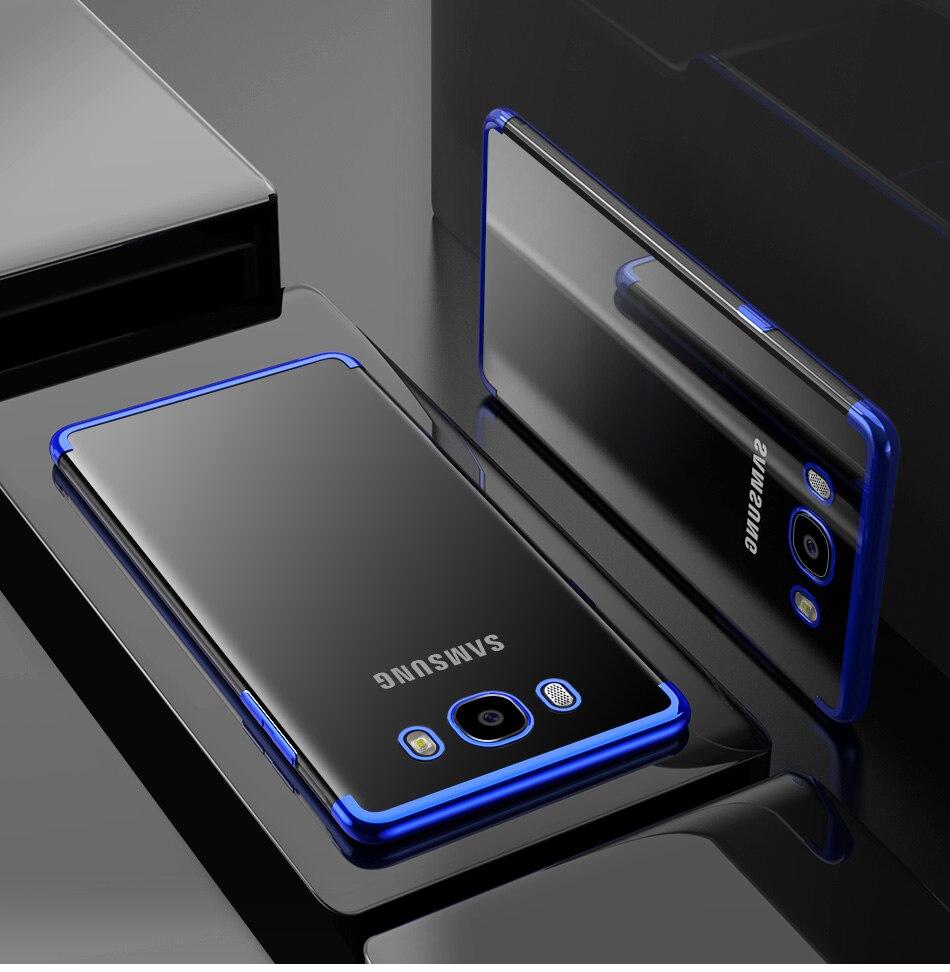 Phone Samsung Galaxy S6 S7 S8 S9 Plus Note 8 9 A3 A5 A7 J3 J5 J7 Clear Soft TPU Electroplated Phone Case