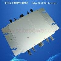 IP65 Водонепроницаемый микро сетевой инвертор MPPT 1200 Вт для солнечных батареях солнечной системы dc22 50v