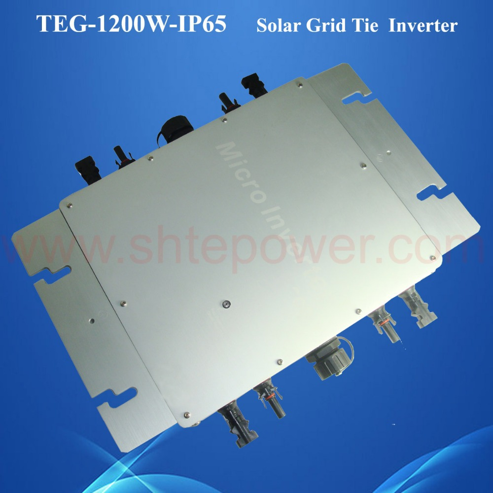 IP65 waterproof micro grid tie inverter mppt 1200W for solar powered solar system DC22-50V solar micro inverters ip65 waterproof dc22 50v input to ac output 80 160v 180 260v 300w