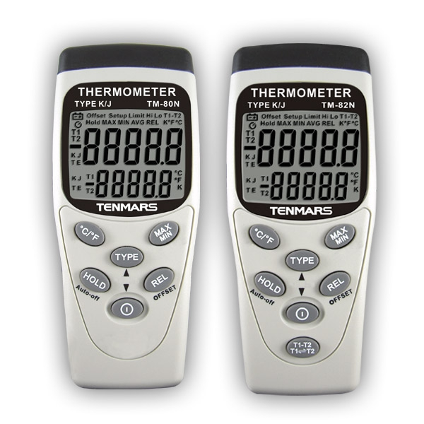 Tenmars TM-80N Portable K/J Type Digital Thermometer k j type single channel thermometer temperature meter tester gauge tm 80n
