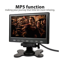 7 inch 800x480 TFT LCD Car HD Color Monitor Screen Touch Button Car Rear View Monitor 2 Channel Video Input Vehicle Headrest Mon