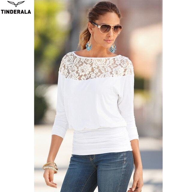 Tinderala novo 2017 mulheres quentes tops mulheres clothing moda blusas & camisas mulheres blusas camisa de renda blusas femininas blusa mujer
