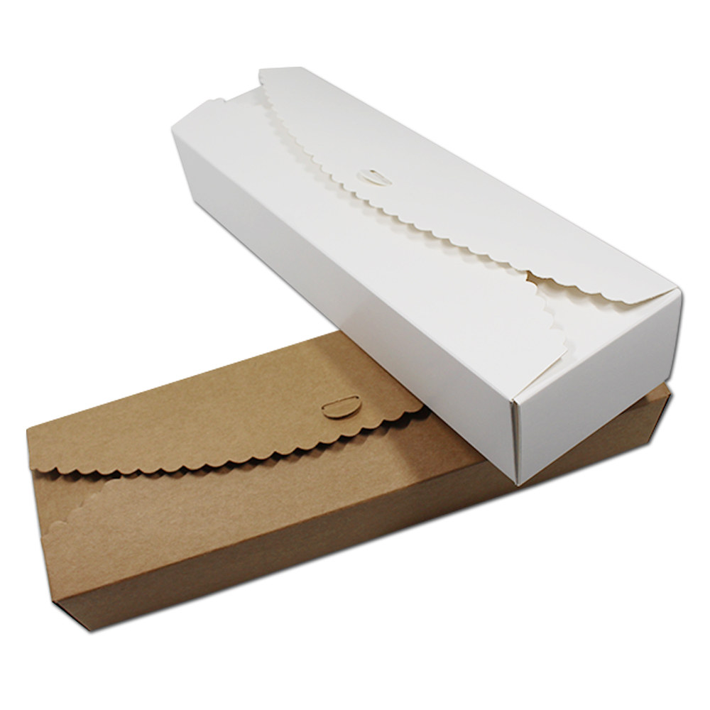 20pcs 23*7*4cm Brown White Paperboard Gift Packaging Boxes Folding Cardboard Paper Carton Candy Jewelry Craft Pack Wedding Party