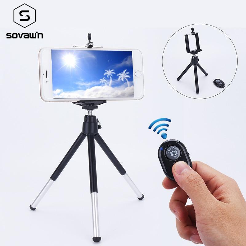 Bluetooth Flexible Universal Portable Aluminum Phone Holder Clip Selfie Tripod Stand For Smartphone For Camera DSLR Mount