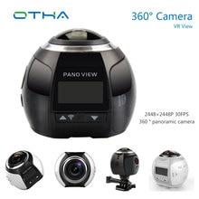 HD WI-FI Камера 360 Мини видео Камера панорама 4 К 2448*2448 30FPS Водонепроницаемый Спорт VR видеокамера + 1200 мАч батареи