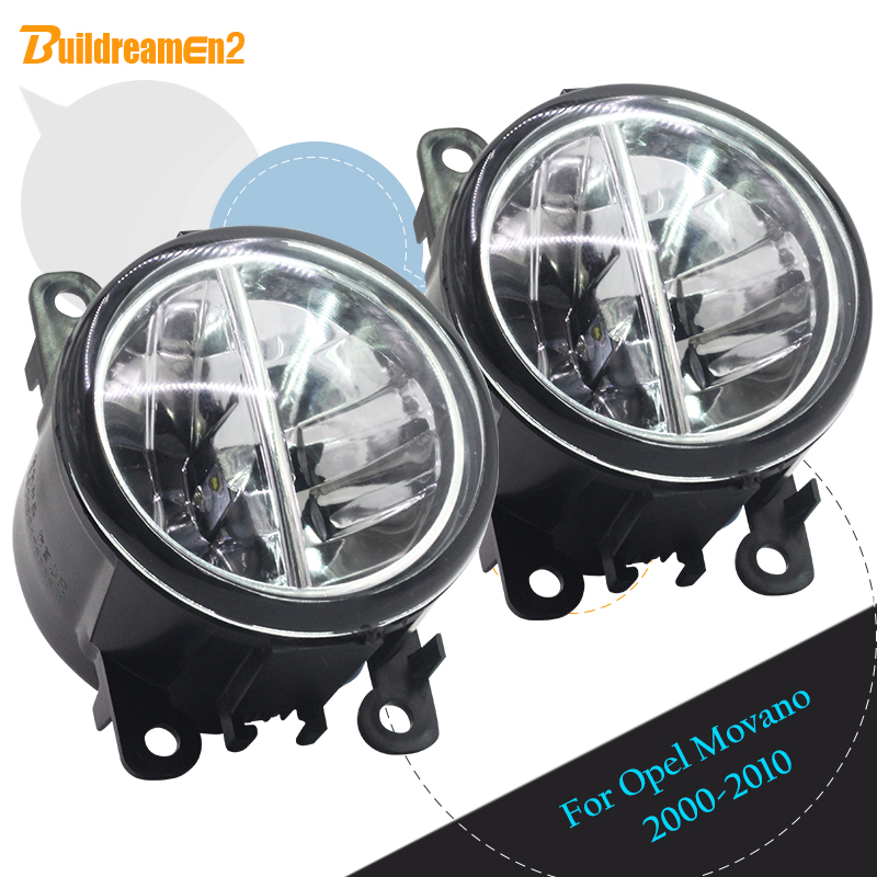 Buildreamen2 For Opel Movano 2000-2010 Car Accessories Front LED Bulb 4000LM Fog Light Daytime Running Lamp DRL 12V 2 Pieces стоимость