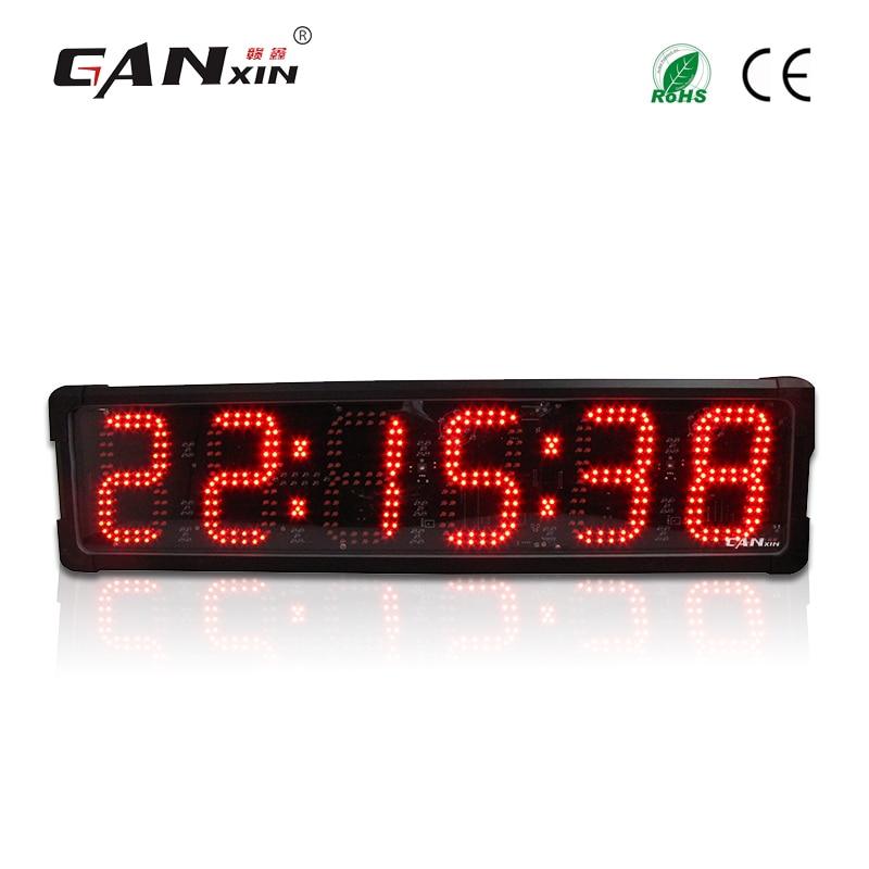 [Ganxin] Высокое качество Многоцветный 6 светодиодные часы таймер для спорта с секундомером Функция