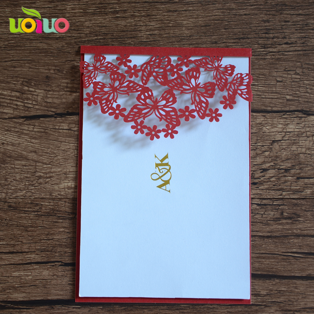 Wedding Invitation Card Paper: Hot Sell Menu Card Paper Customlizable Laser Cut Chinese