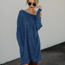 2017 Autumn Winter Dresses Robe Vestidos Long Sleeve 2XL Knitted Bodycon Party Dress Green Blue Casual Vintage Dress for Women