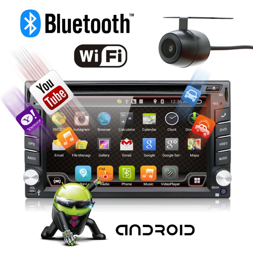 Universal 2 Din Android 7.1 Car DVD Player GPS Wifi